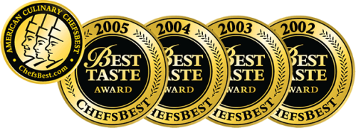 Awarded ChefsBest Best Taste Award 2002-2005
