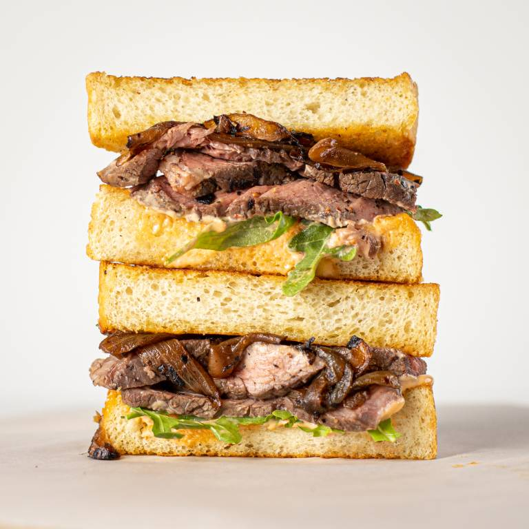 Steak Sandwich on Texas Toast